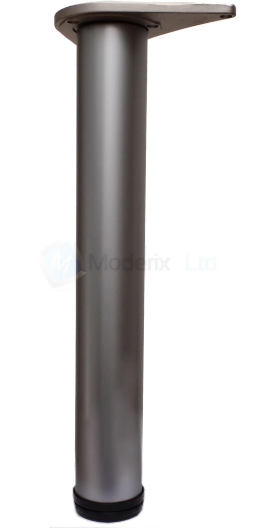 3 X Gamba Piede Acciaio Per Tavolo Scrivania 110 Cm Colore