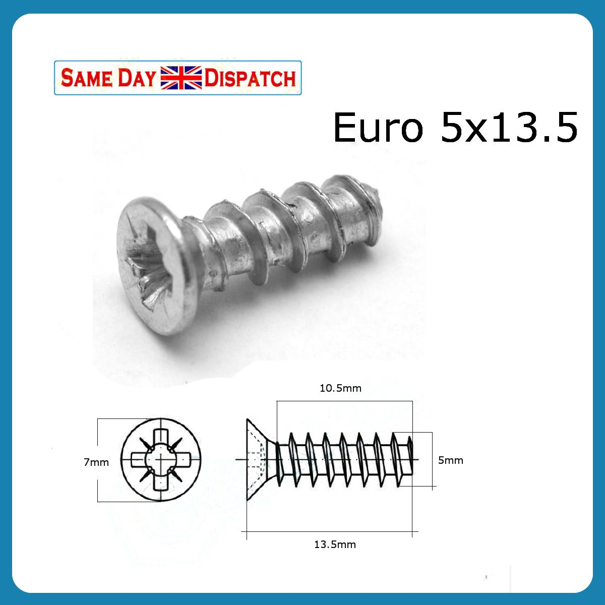 5 X 13 5mm Varianta Euro Screws Mounting Screws For Draw