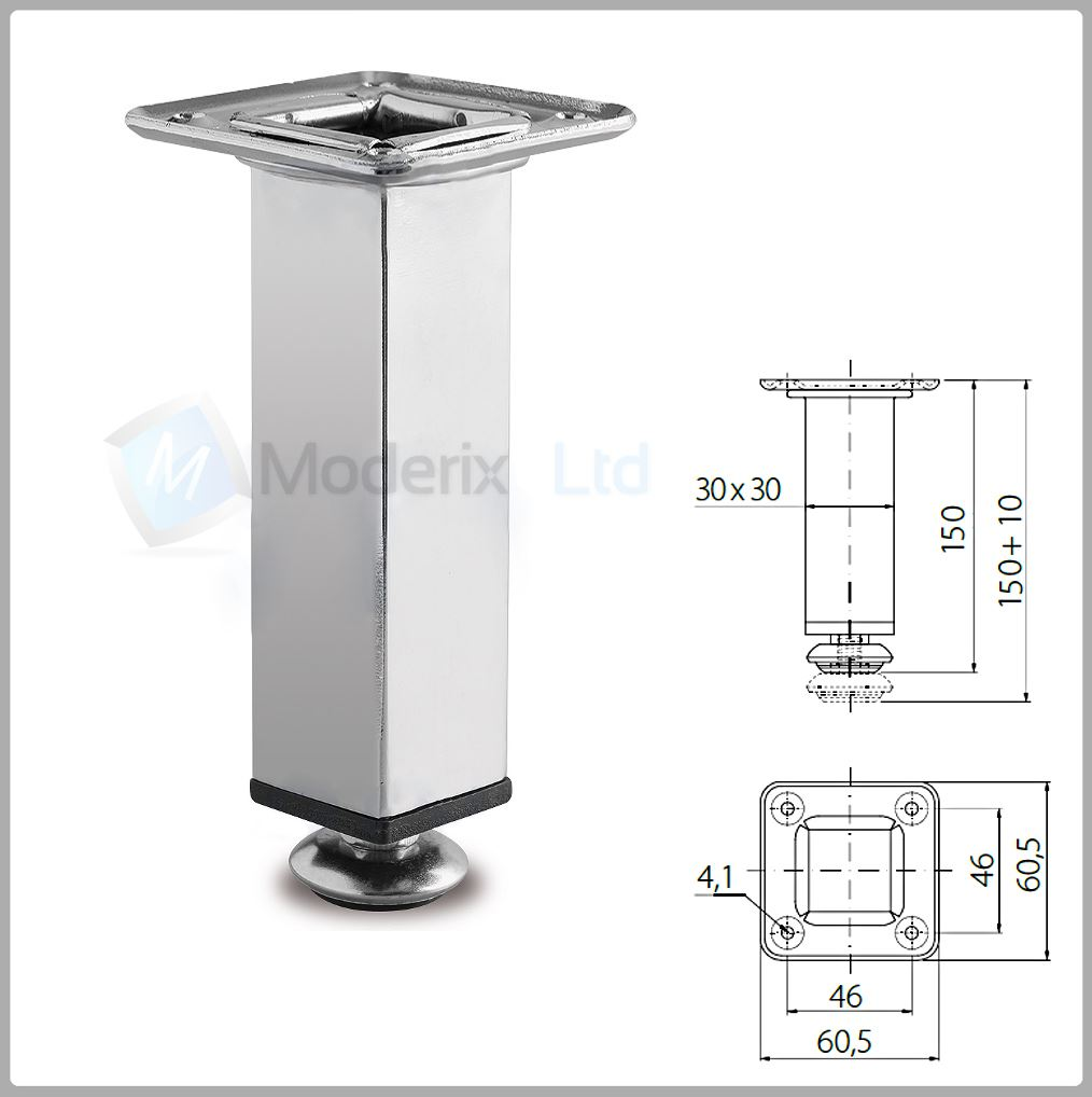 New chrome steel feet plinth legs sofa beds cupboard for Kitchen units with legs