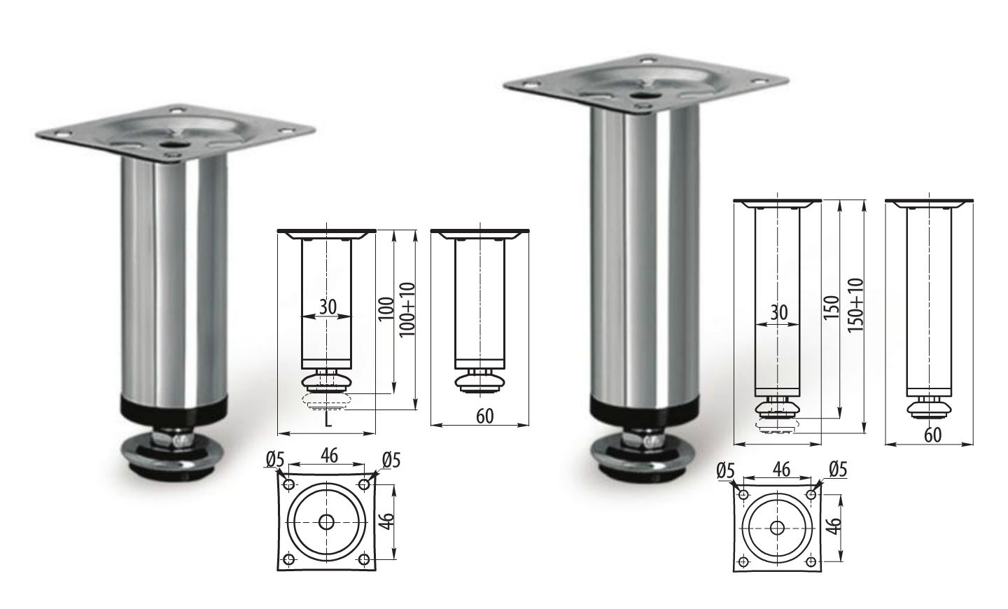 Adjustable Kitchen Cabinet Legs