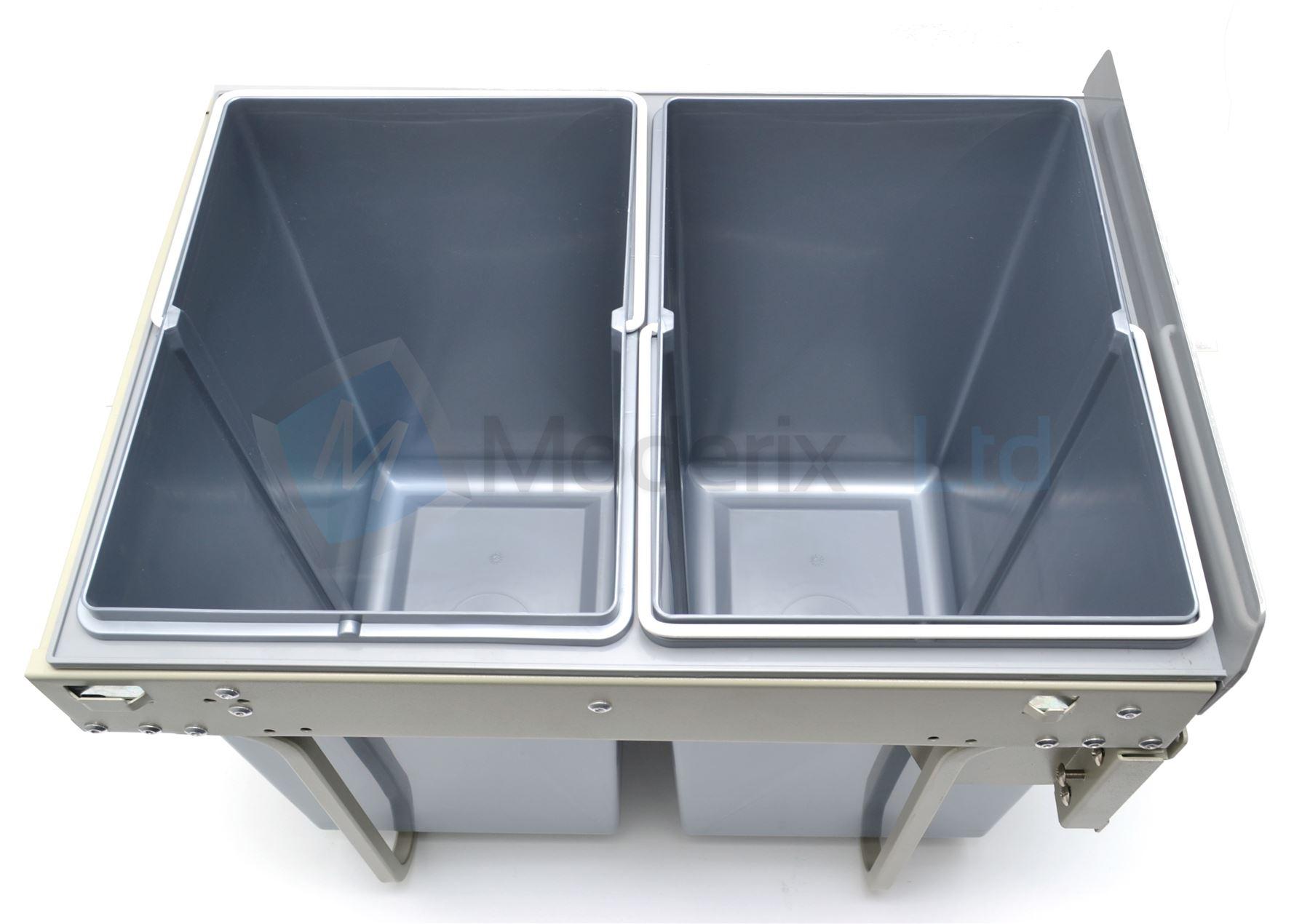 Kitchen Pull Out Plastic Recycling Bin, Waste Bin Full