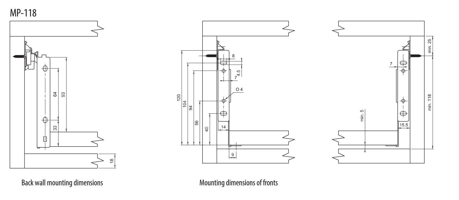 kit de tiroir rails coulissant tiroirs tiroir montage h 118mm l 350mm ebay. Black Bedroom Furniture Sets. Home Design Ideas