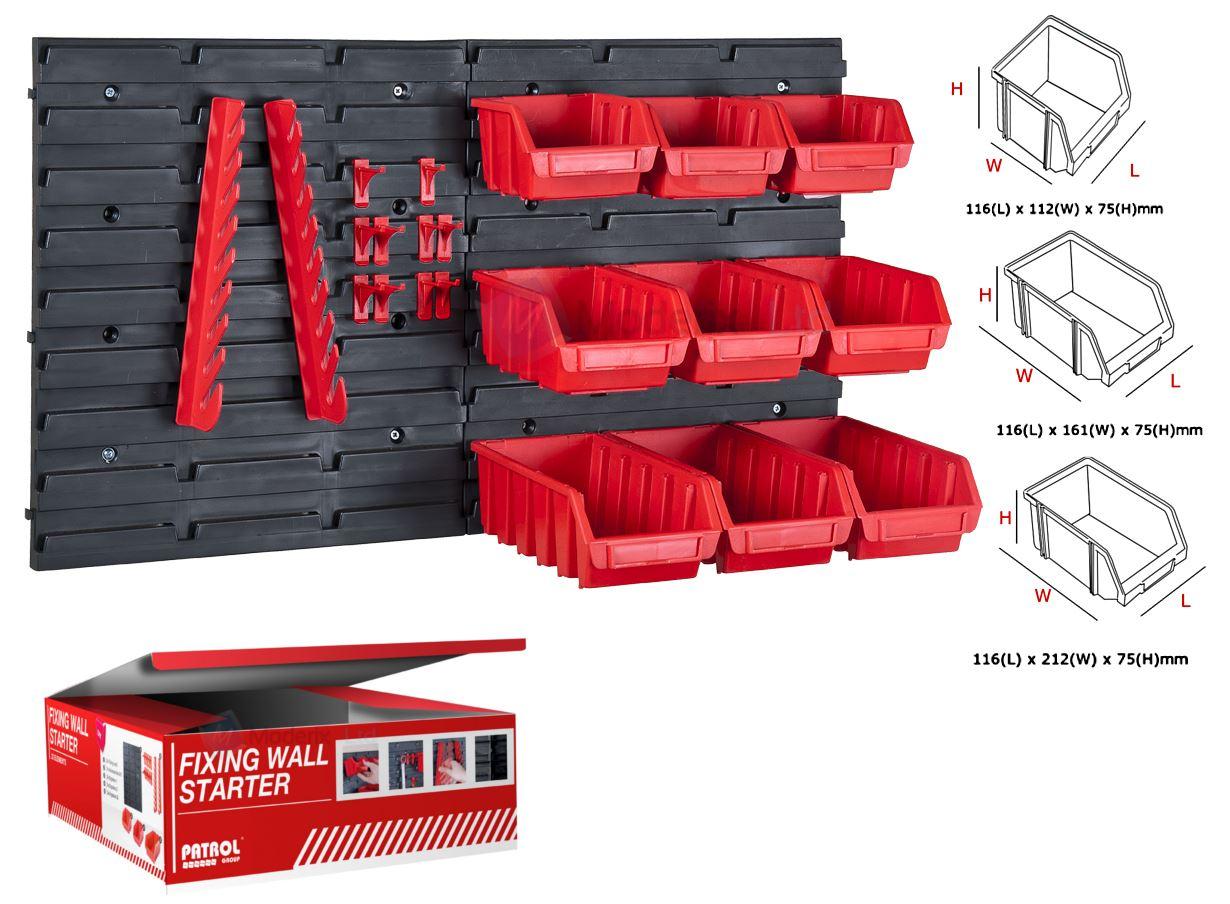 New 23pc Plastic Parts Storage Bins Boxes Amp Tool Tidy Kit