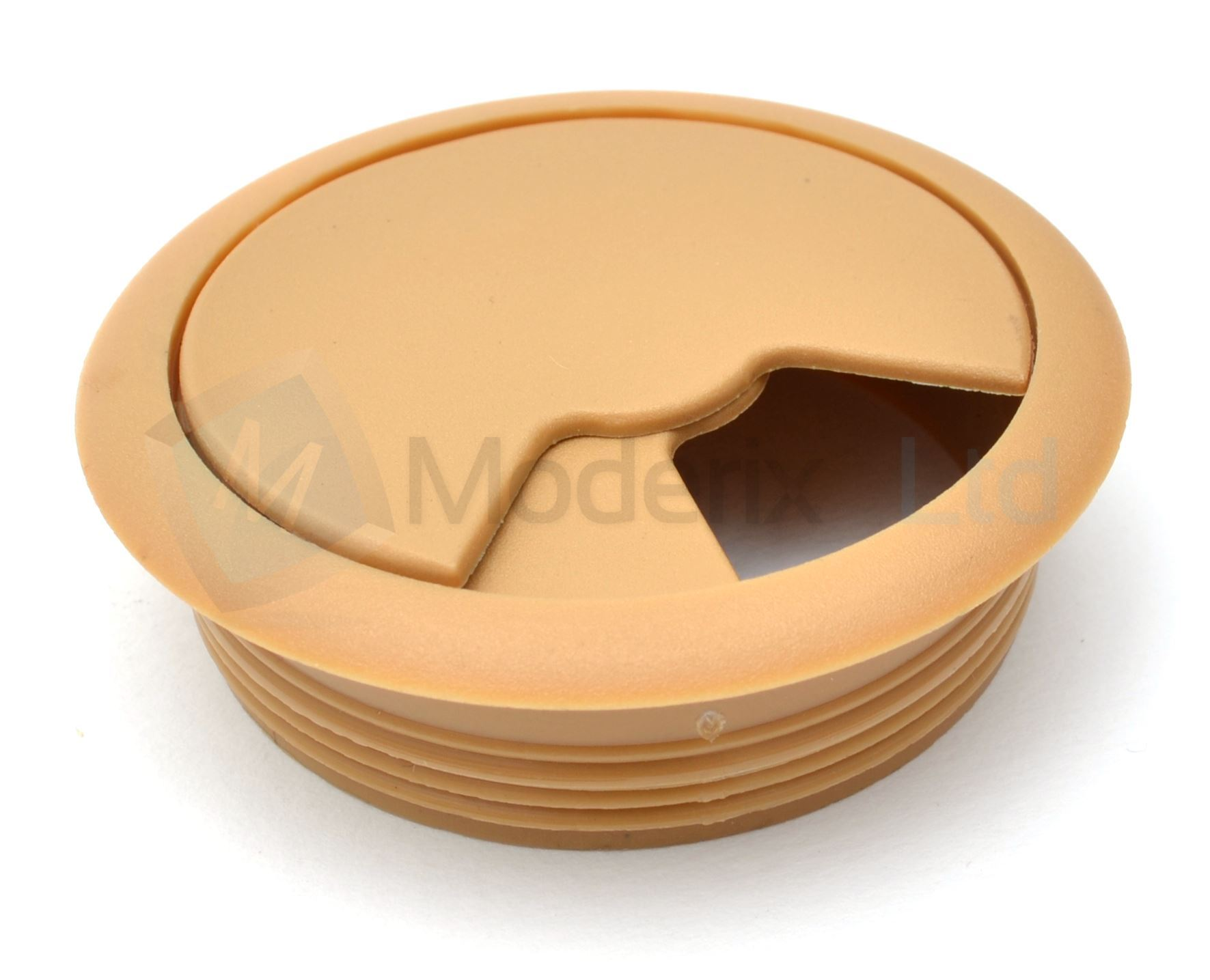 80mm Beige Pc Computer Desk Plastic Grommet Table Cable