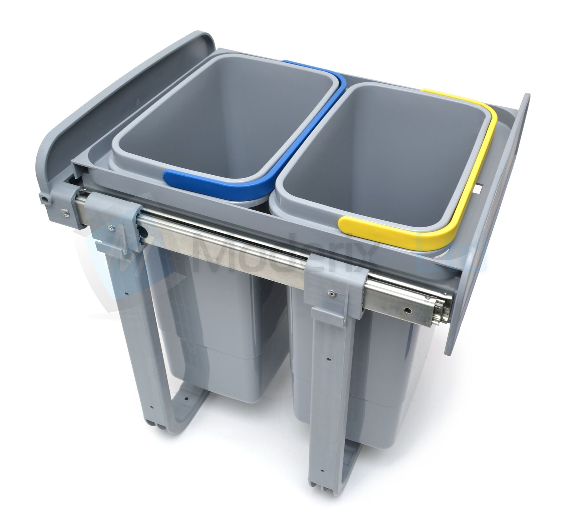 Kitchen Pull Out Plastic Recycling Bin, Waste Bin Full Extension ...