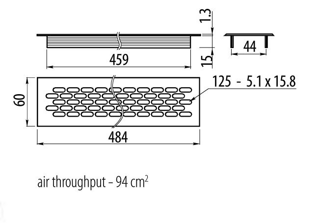 Rejilla de ventilacion para cocina en aluminio superficie - Rejilla de ventilacion ...