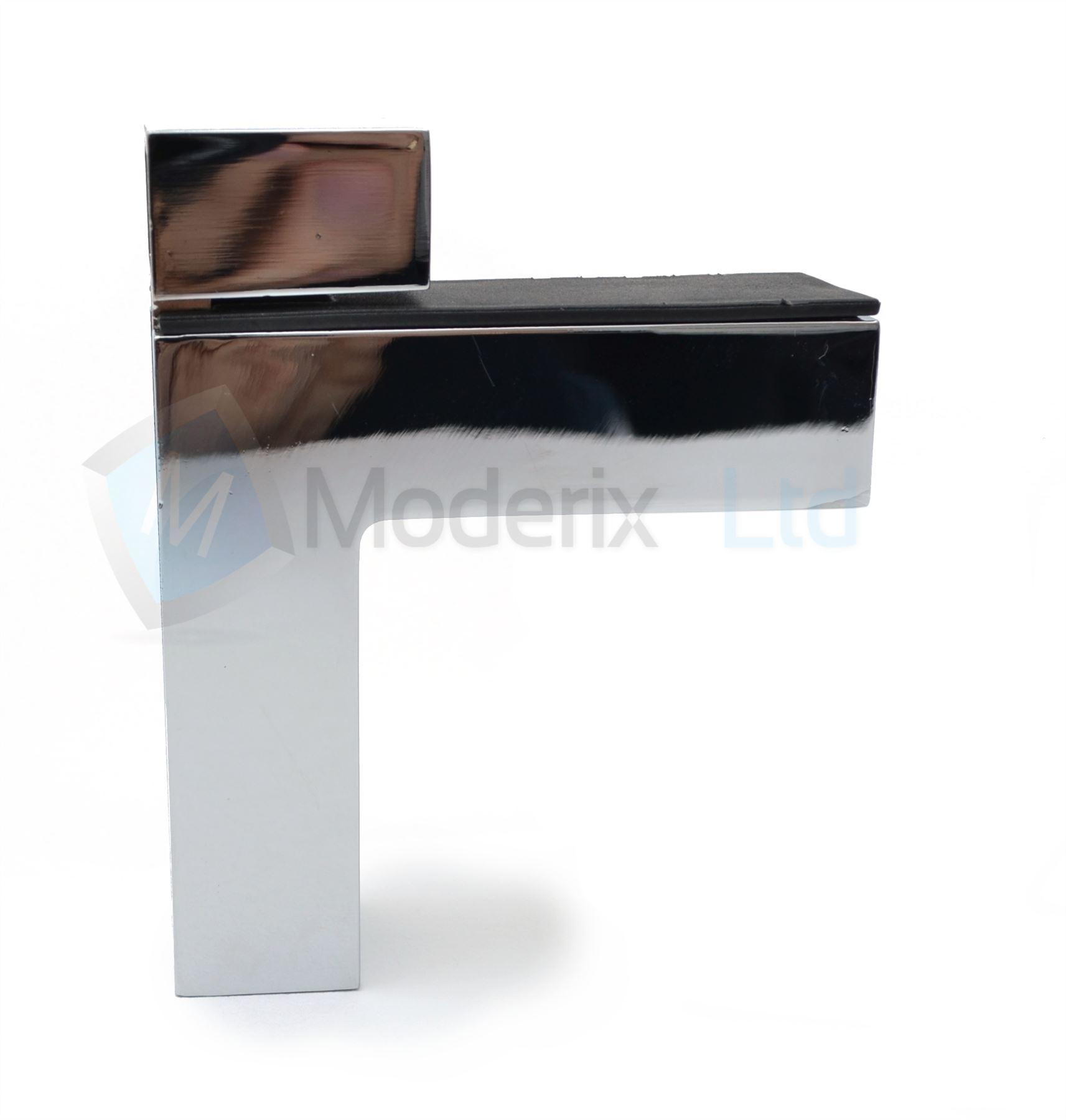 chrome nickel shelf bracket glass shelf support 2 45mm. Black Bedroom Furniture Sets. Home Design Ideas