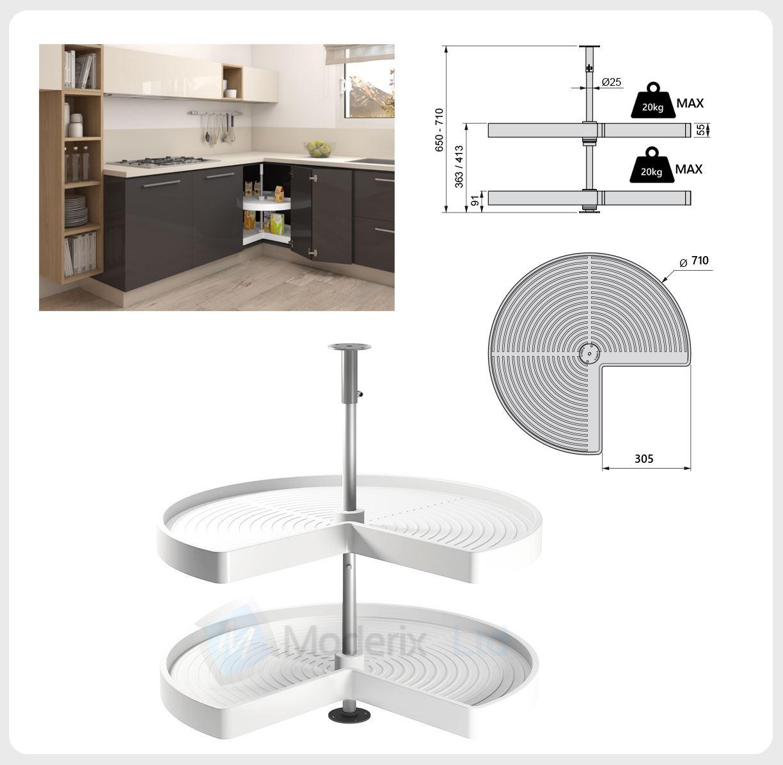 kitchen corner unit carousel circle 3 4 set 710 or 810mm. Black Bedroom Furniture Sets. Home Design Ideas