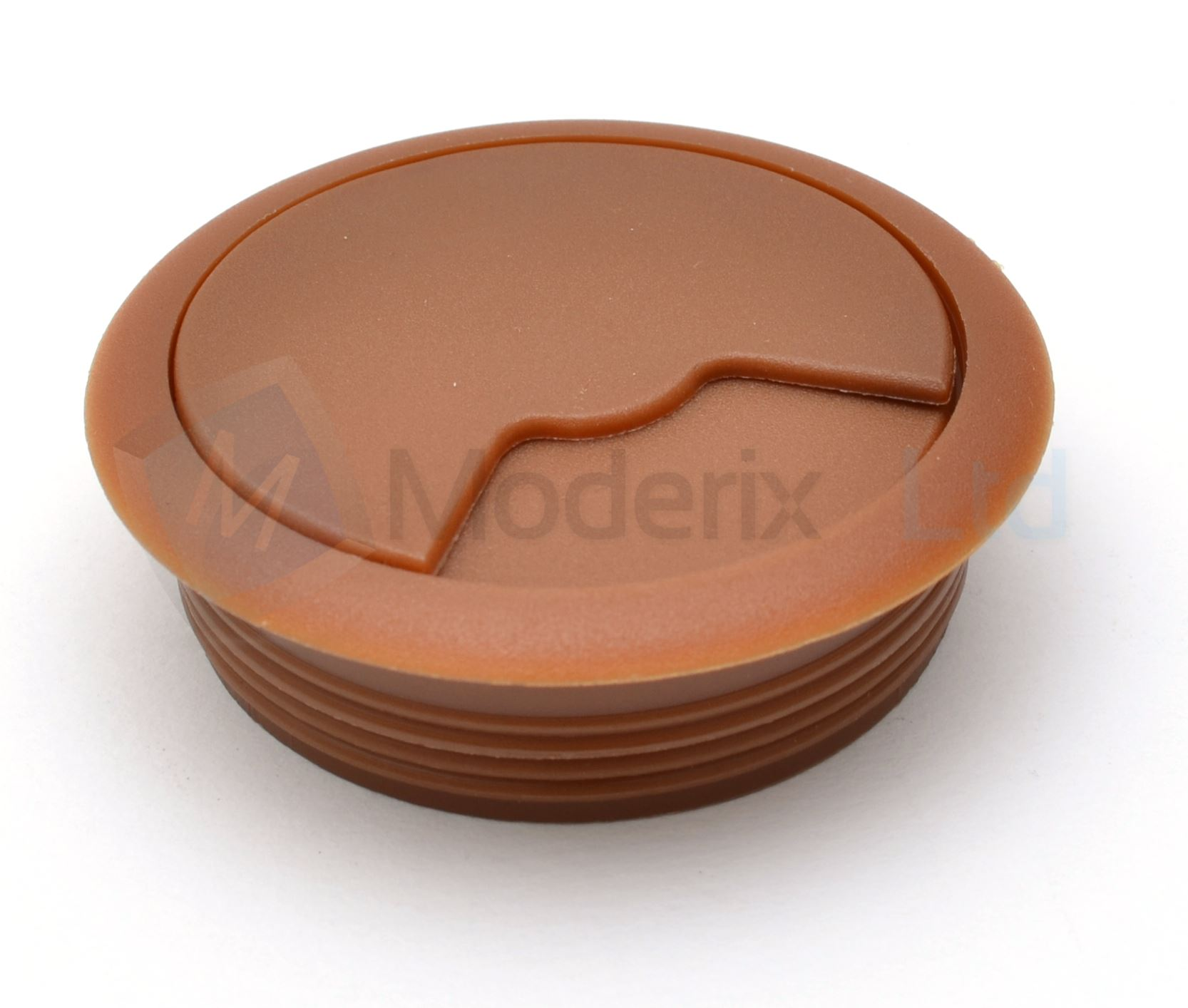 60mm light brown computer desk plastic grommet table cable tidy wire hole cover ebay. Black Bedroom Furniture Sets. Home Design Ideas