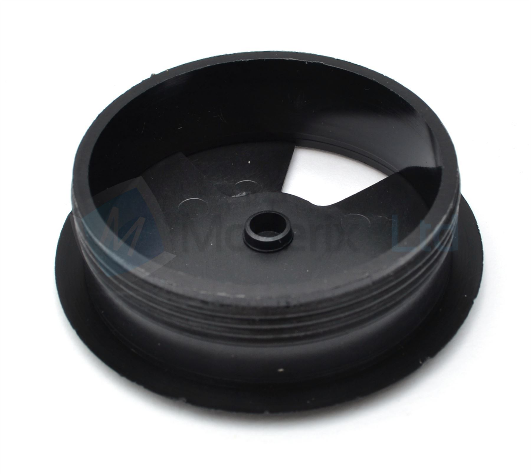80mm Black Pc Computer Desk Plastic Grommet Table Cable