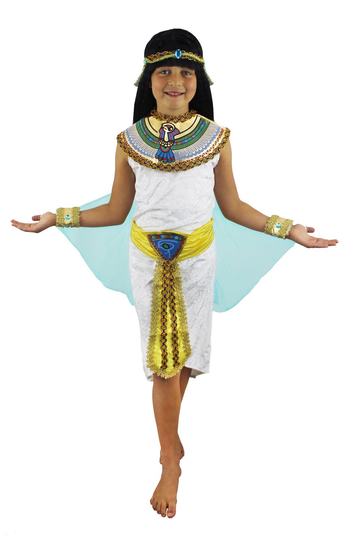 costume fille gyptienne enfant reine du nil cl op tre. Black Bedroom Furniture Sets. Home Design Ideas
