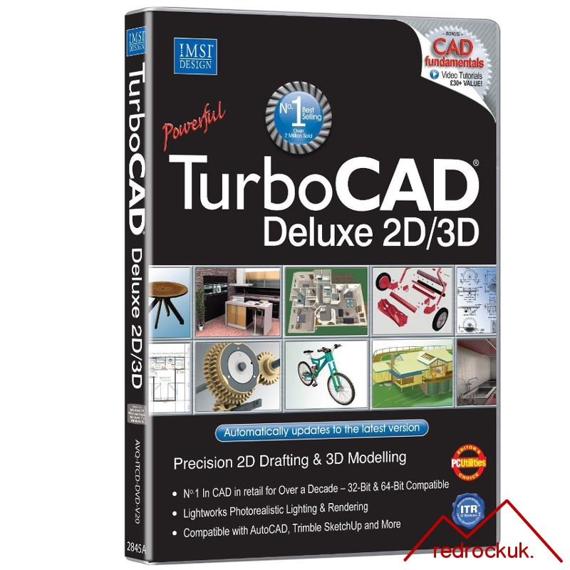 Avanquest TurboCAD 20 Deluxe 2D CAD Design & 3D Modeling