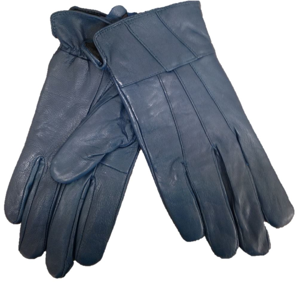 Ladies leather gloves blue - Ladies Stylish Leather Gloves By Tom Franks Winter