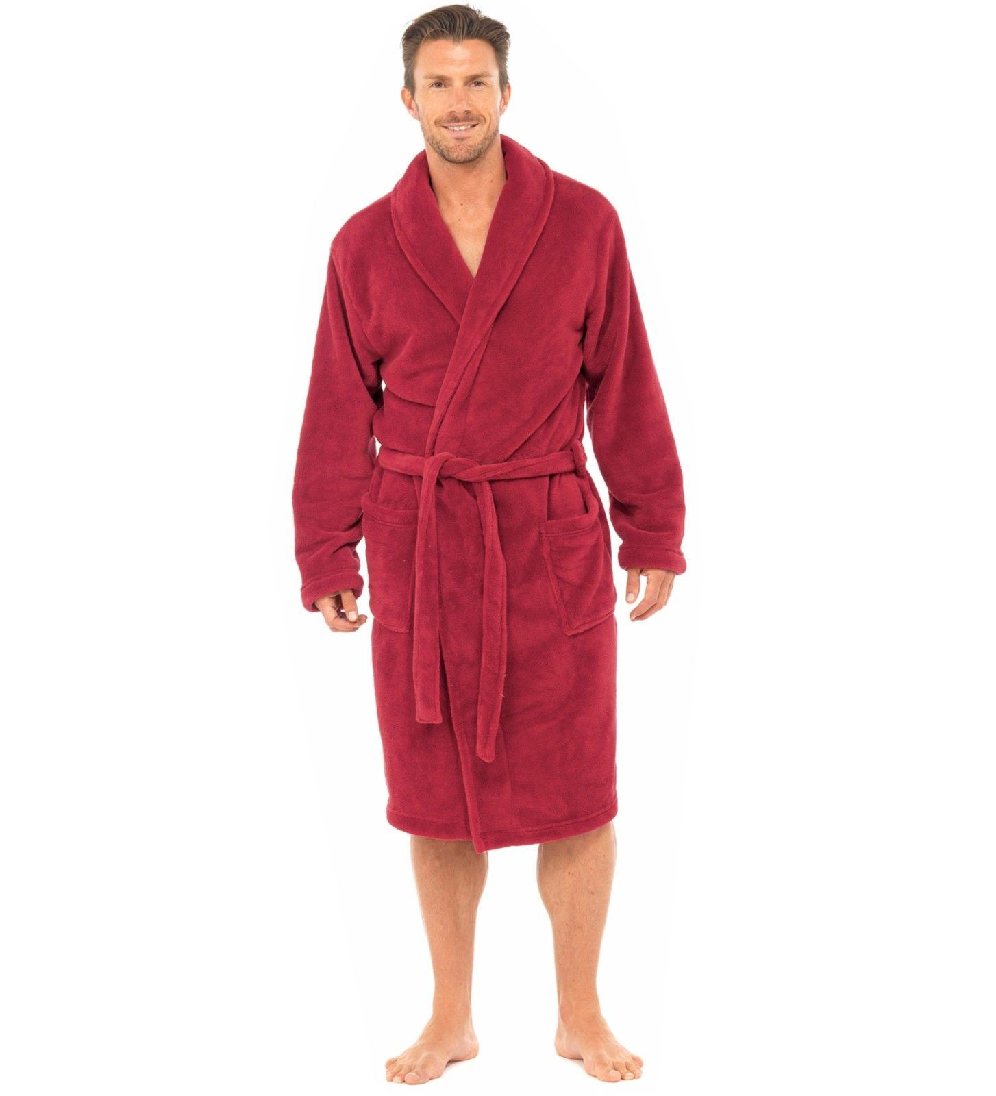 homme tom franks luxe plain corail polaire peignoir robe. Black Bedroom Furniture Sets. Home Design Ideas
