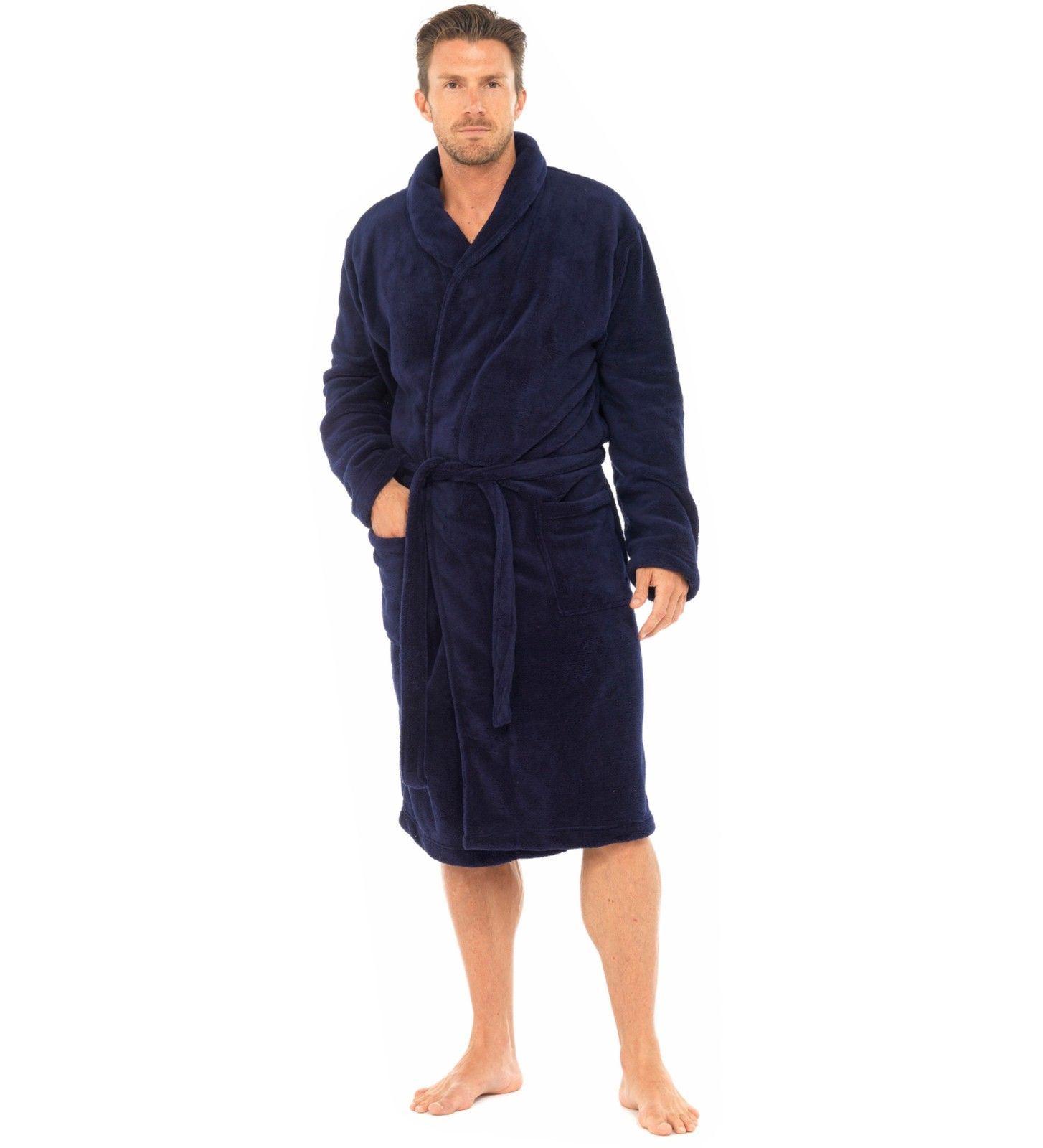 homme tom franks luxe plain corail polaire peignoir robe de chambre peignoir ht501 ebay. Black Bedroom Furniture Sets. Home Design Ideas