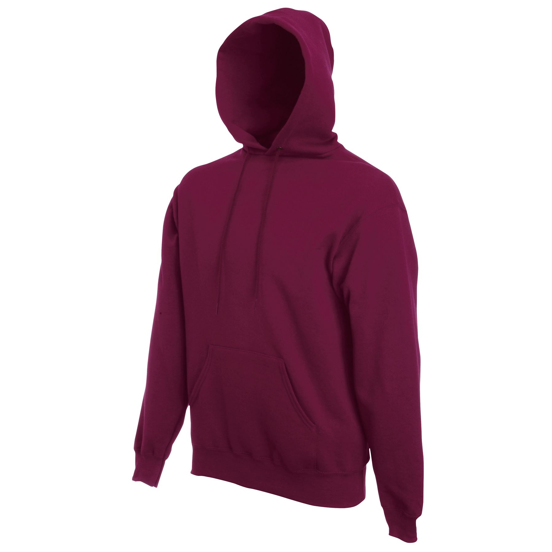 Fruit of The Loom Hooded Sweatshirt Plain Hoodie Pullover Hoody Jumper ...
