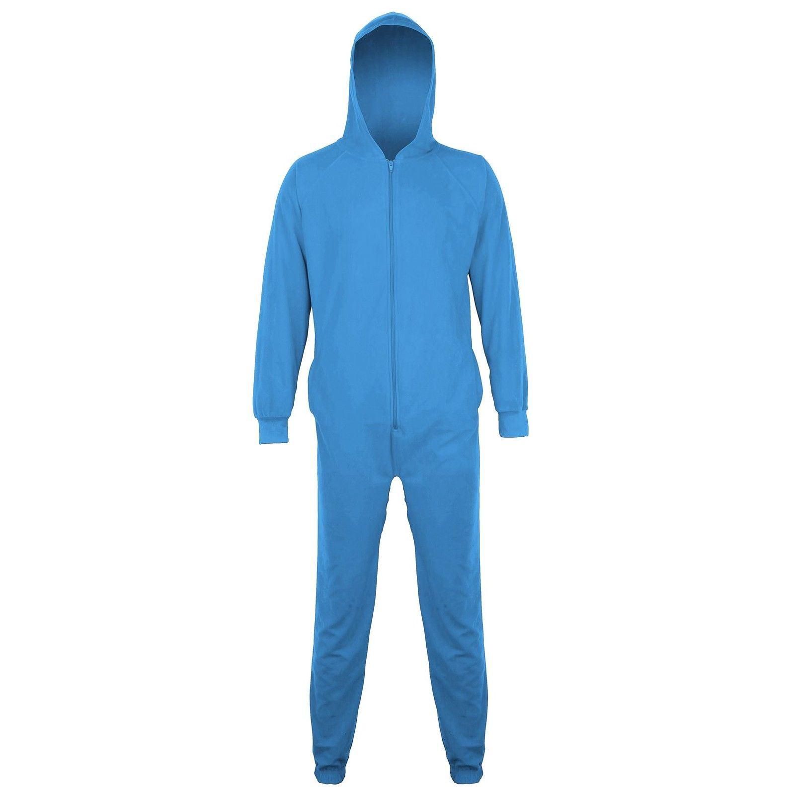 damen oder herren winter essential kapuze soft fleece einteiler pyjama ebay. Black Bedroom Furniture Sets. Home Design Ideas