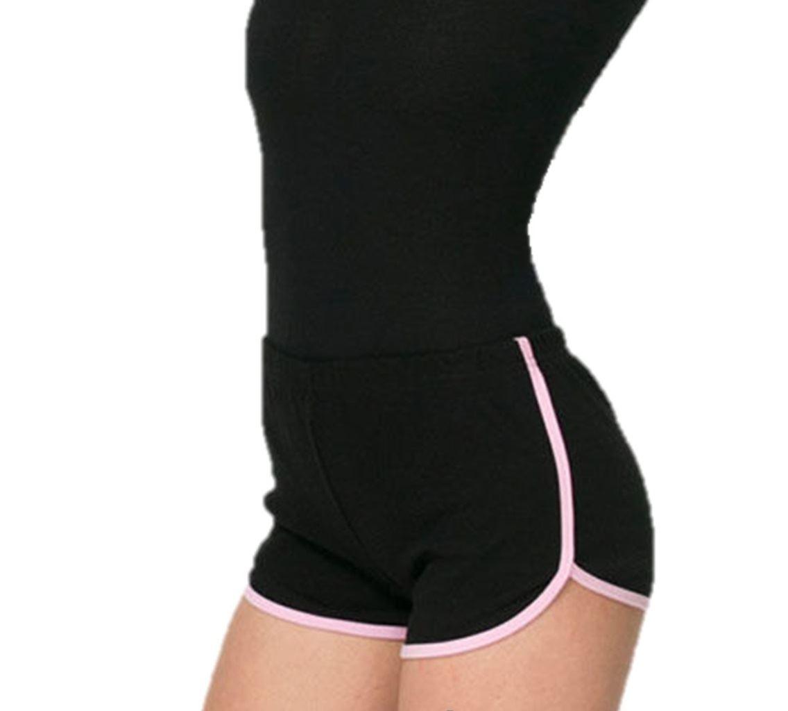 American-Apparel-Ladies-Womens-Cotton-Interlock-Running-Sports-Shorts