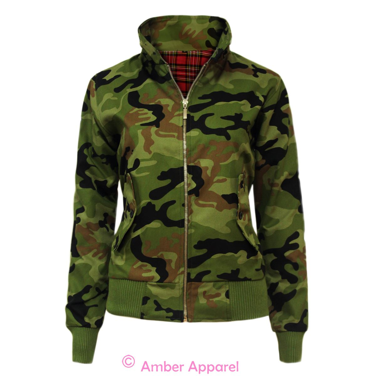 Womens canvas military jacket