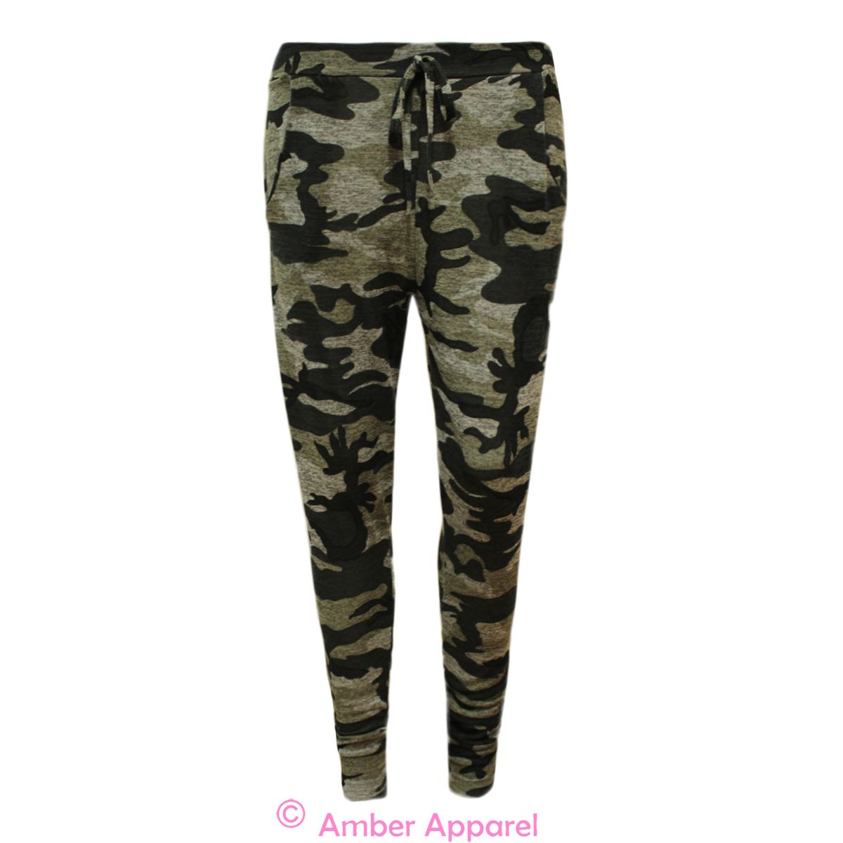 Wonderful Camo Jogger Pants With White Tank Top And Golden Pendant  Fashion