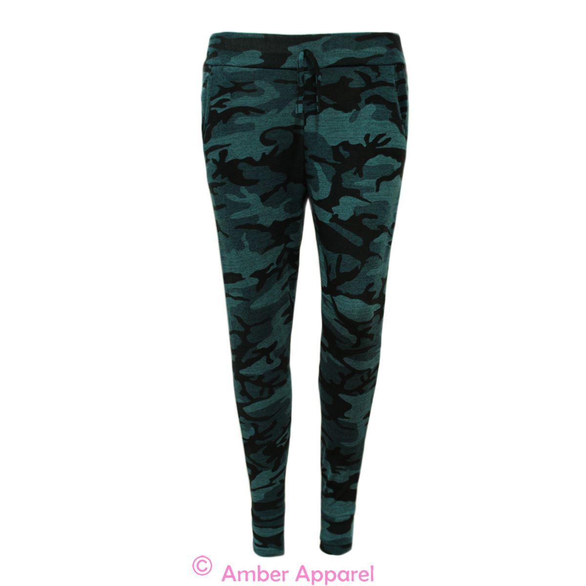 Model New Womens Camouflage Joggers Army Khaki Pants With Pockets Size S M L XL | EBay