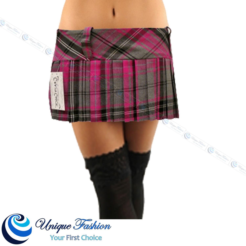 new 9 quot 12 quot tartan skirt pleated micro mini