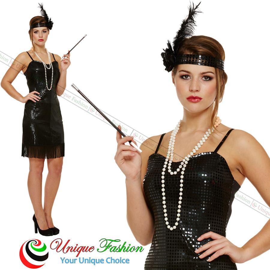New-Ladies-Adult-Fringe-Flapper-Jazz-20s-30s-Fancy-Dress-Costume-Charleston