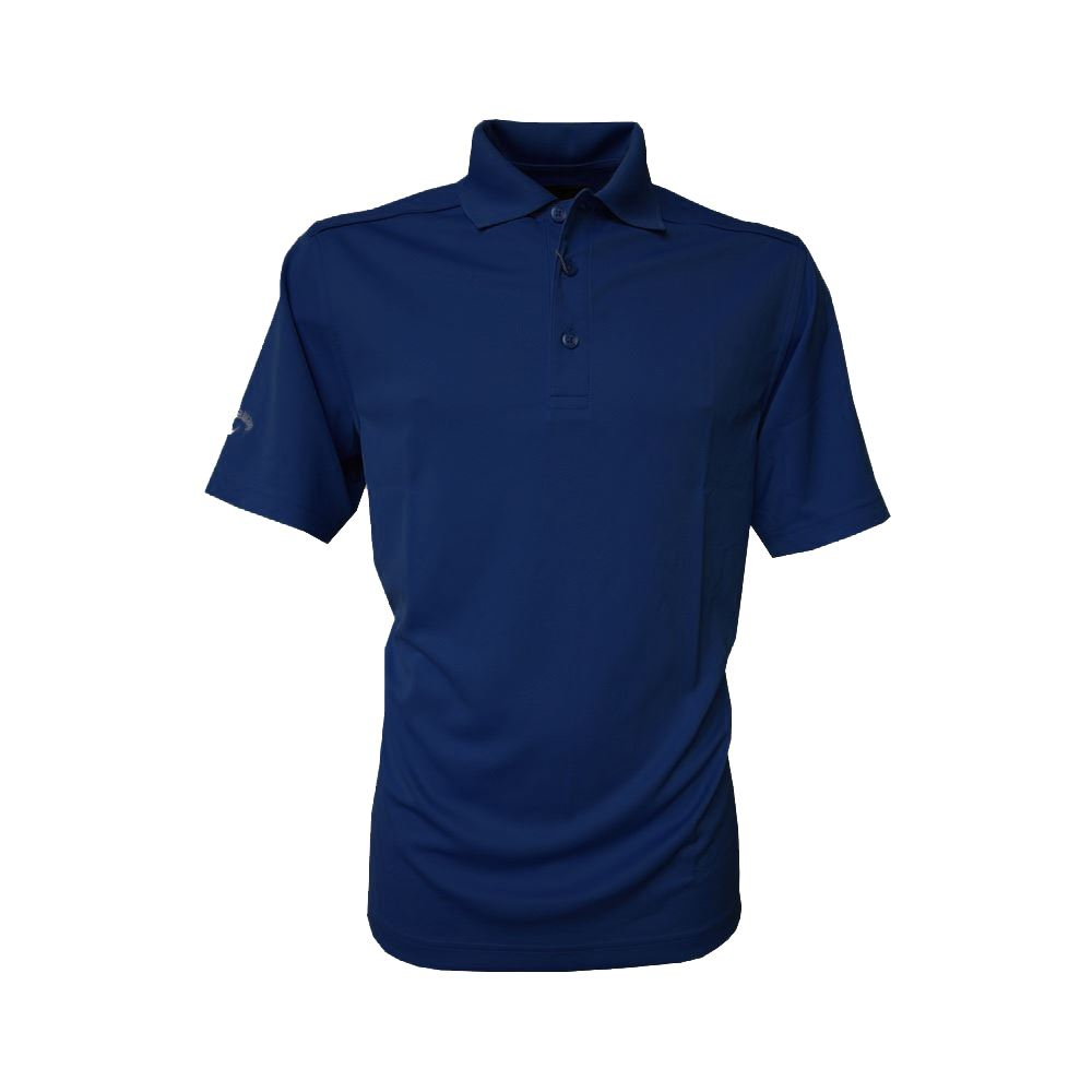 Callaway Chev Performance Golf Mens Polo Shirt Red Blue