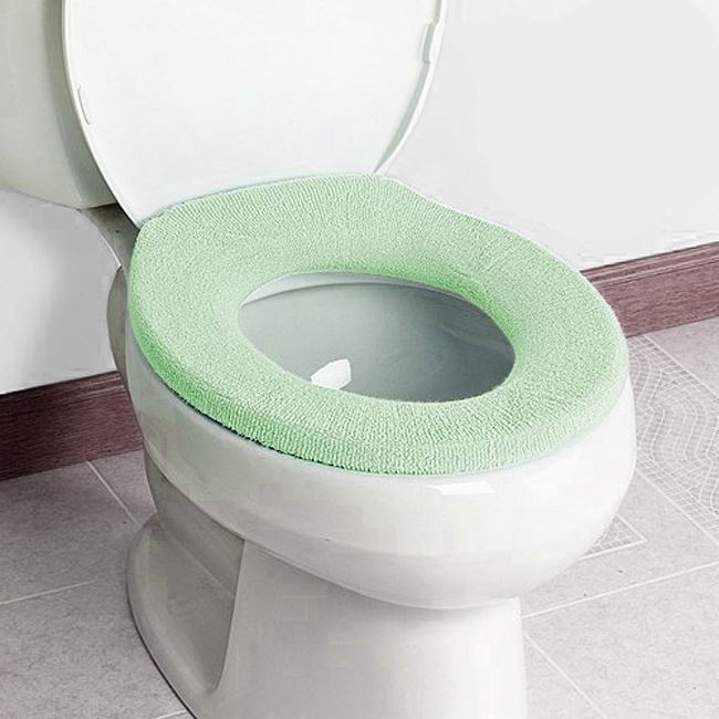 NEW TOILET SEAT CLOTH SOFT WASHABLE LID TOP COVER PAD CLOSESTOOL BATHROOM WARMER