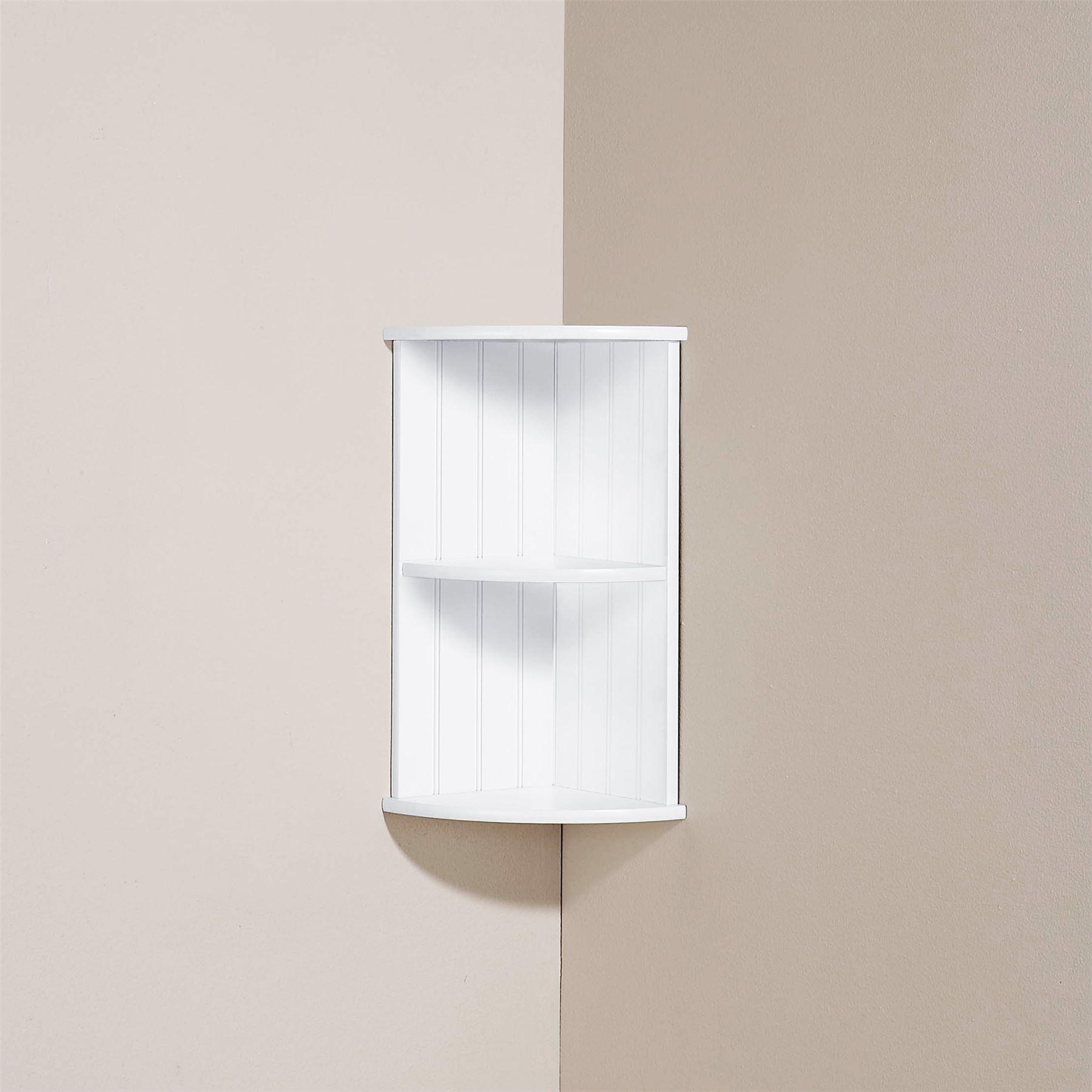 Colonial Range Bathroom Corner Wall Shelf Unit Cupboard Cabinet Storage White Ebay
