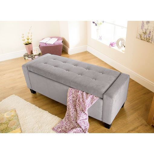FAUX LEATHER FABRIC CHENILLE DIAMANTES HOPSACK BLANKET BOX OTTOMAN