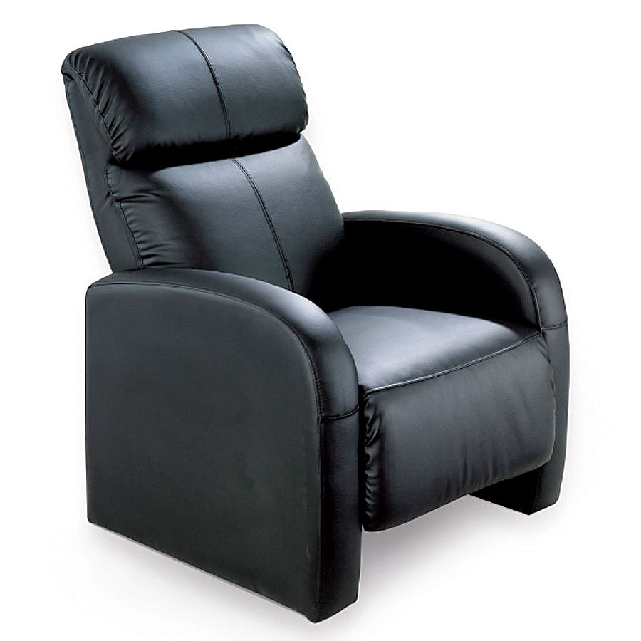 RECLINER CHAIR MASSAGER RELAX FAUX LEATHER ARMCHAIR HOME ...