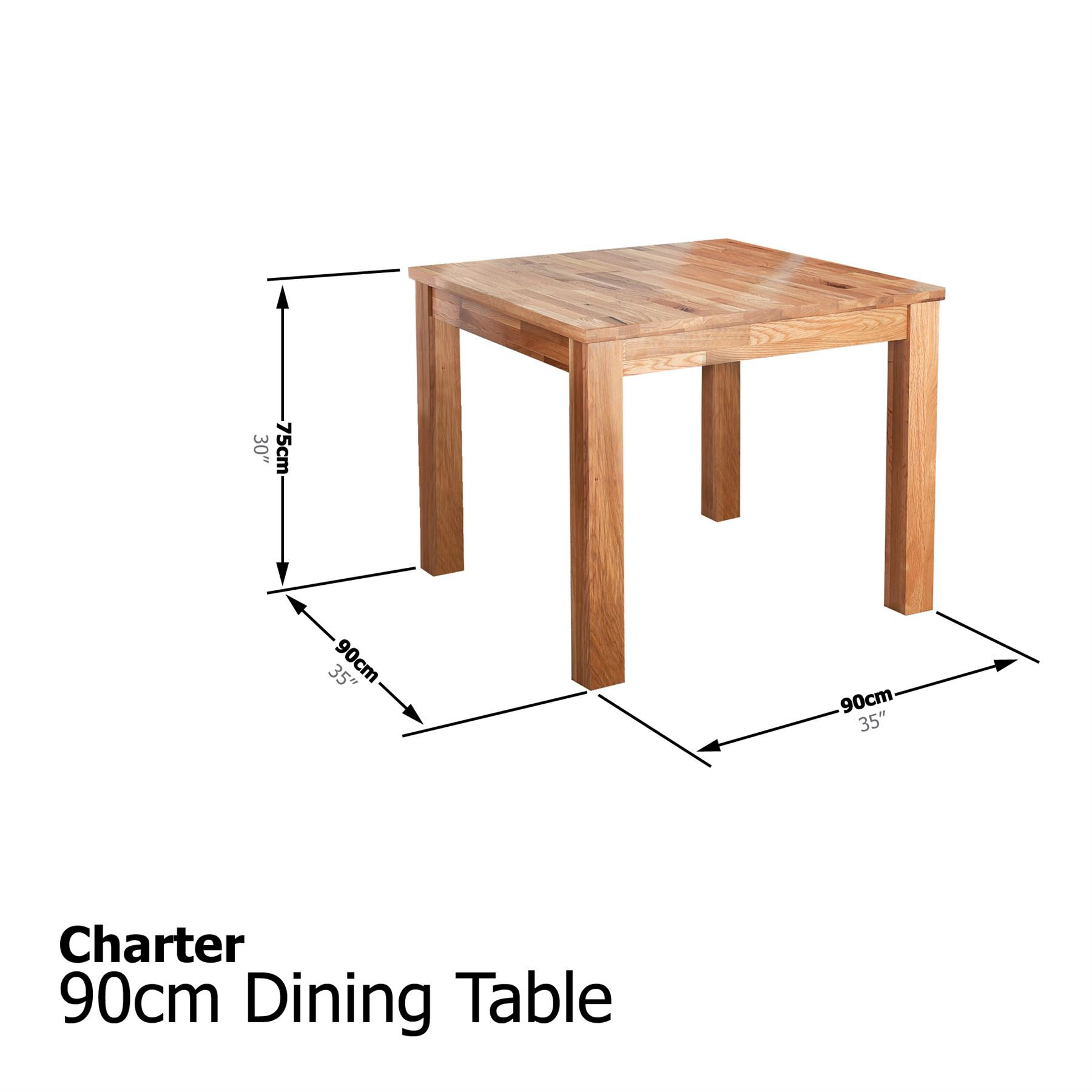 CHARTER DINING TABLE Amp HUDSON CHAIR SET SOLID OAK DINING