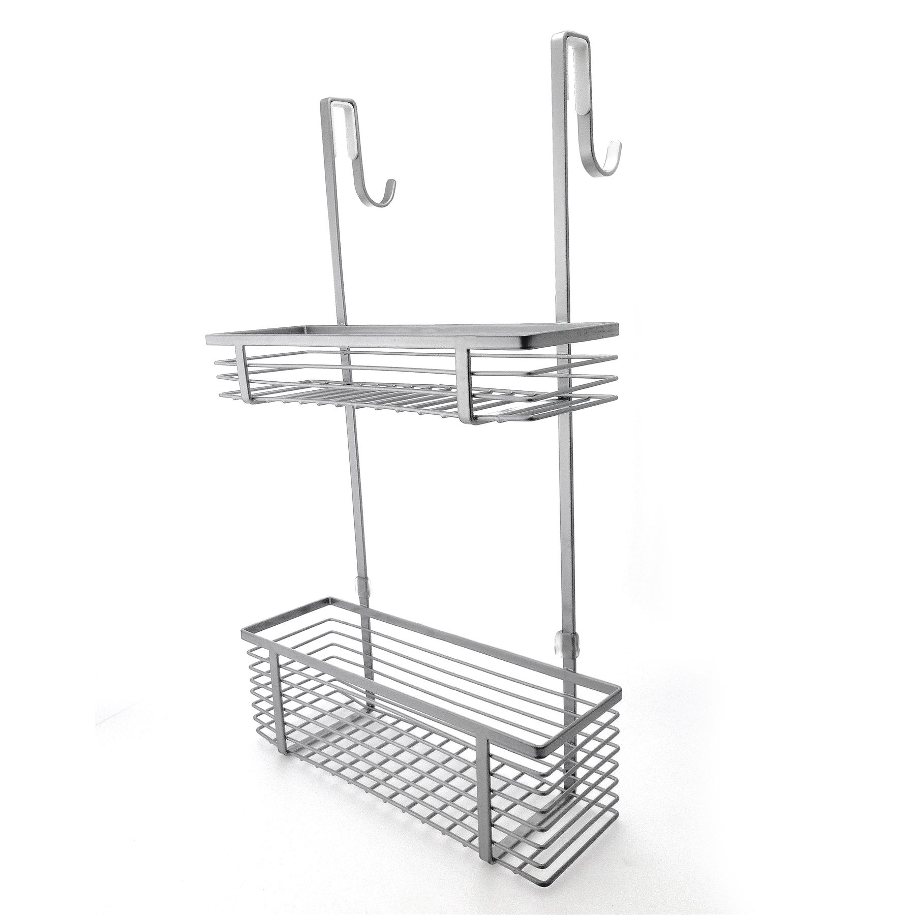 2 tier over the door caddy shelf storage organizer shower for Bathroom tray organizer