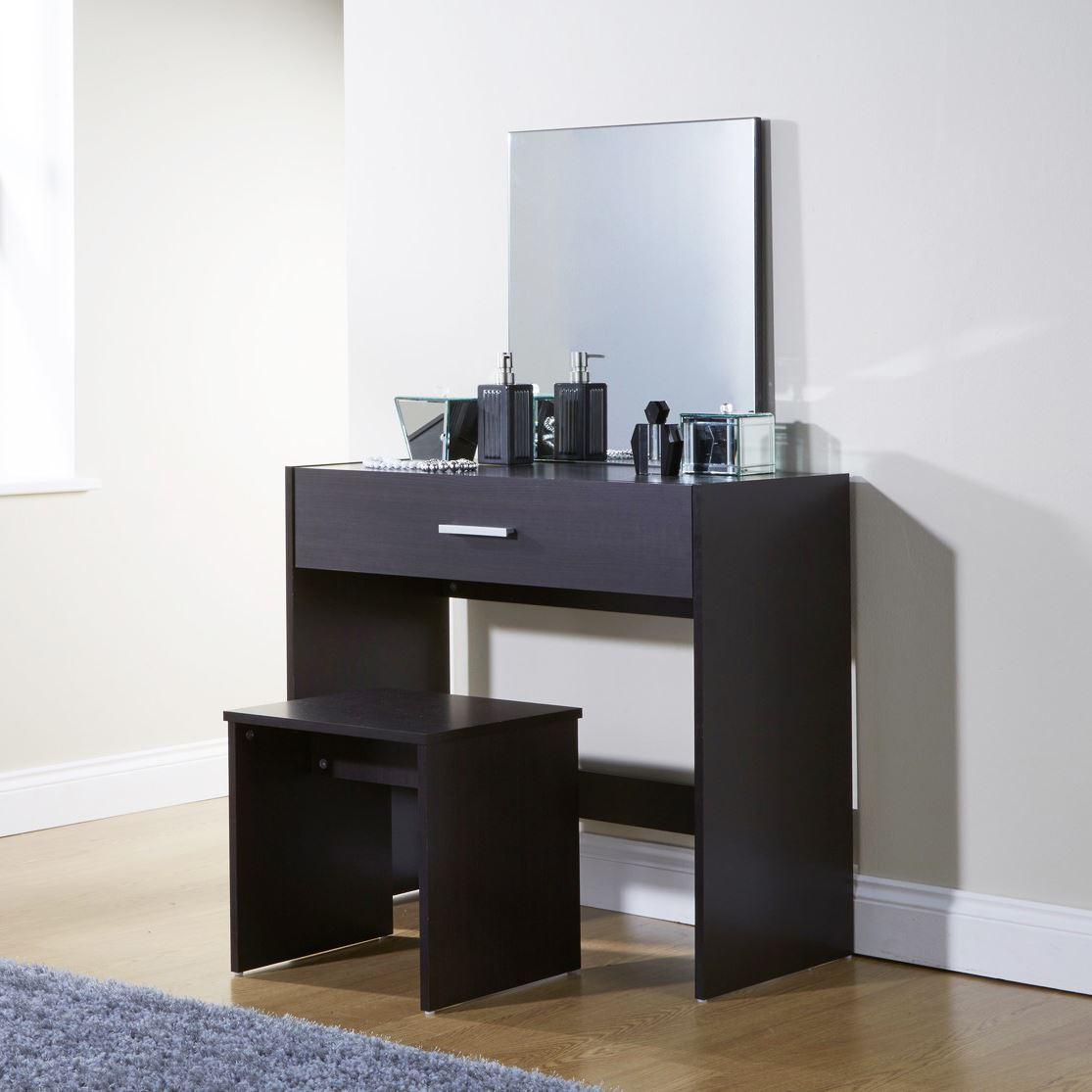 Julia dressing makeup table set vanity drawer dresser desk for Vanity desk set