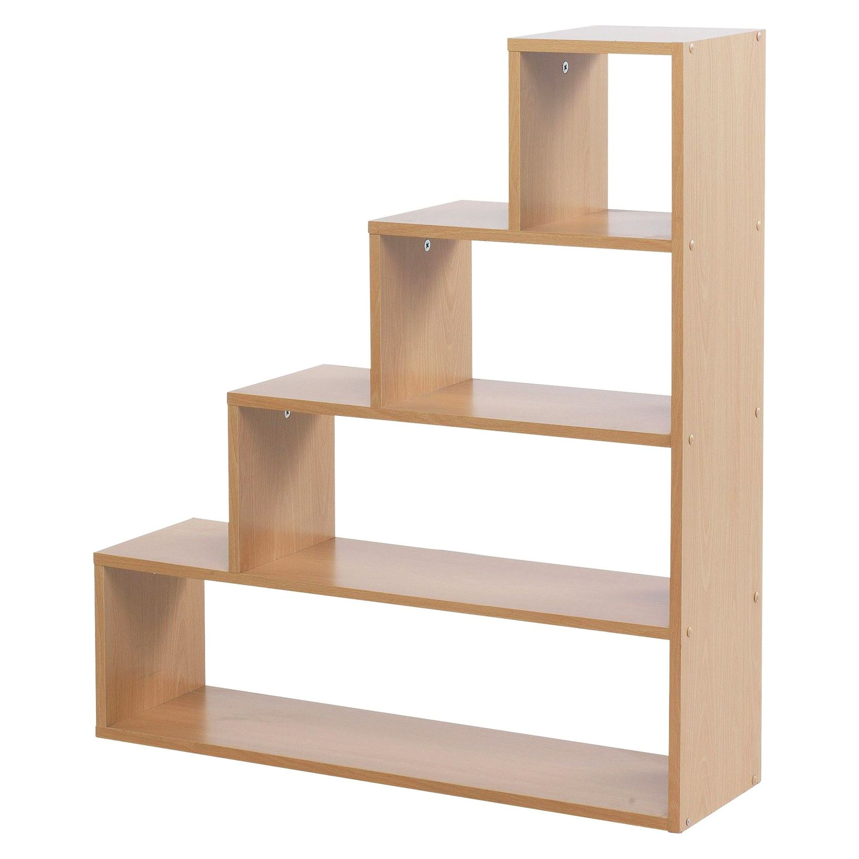 stylish understairs 4 tier cube step bookcase shoe storage. Black Bedroom Furniture Sets. Home Design Ideas