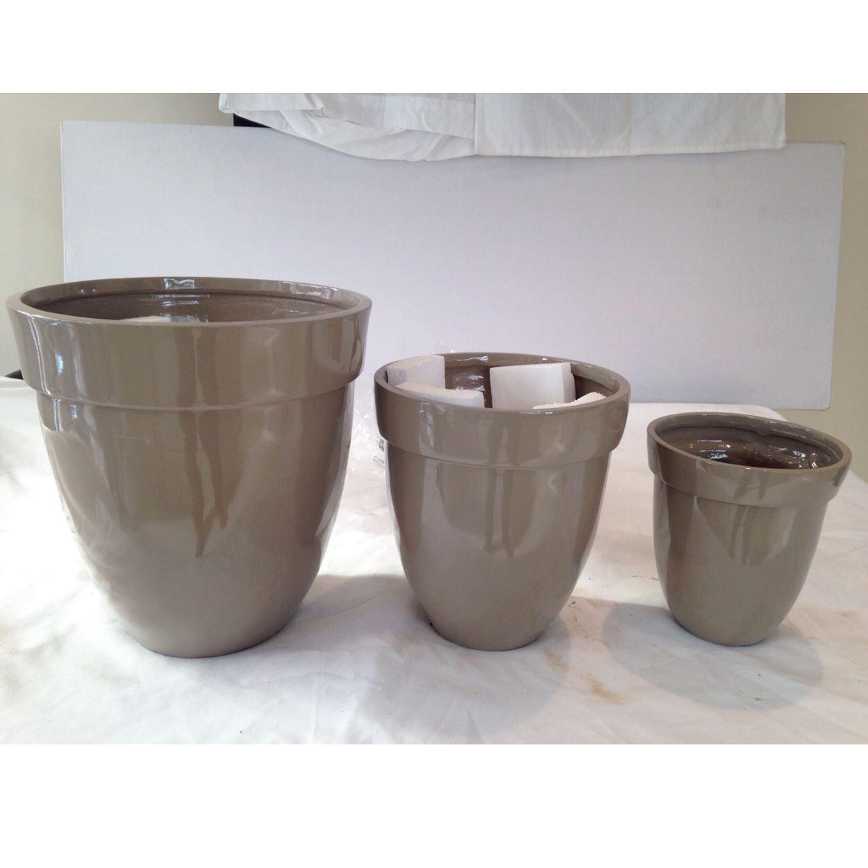 Kitchen Garden Pots: EGG SHAPE FIBER GLASS POT PLANTER CONTAINER DISPLAY FLOWER