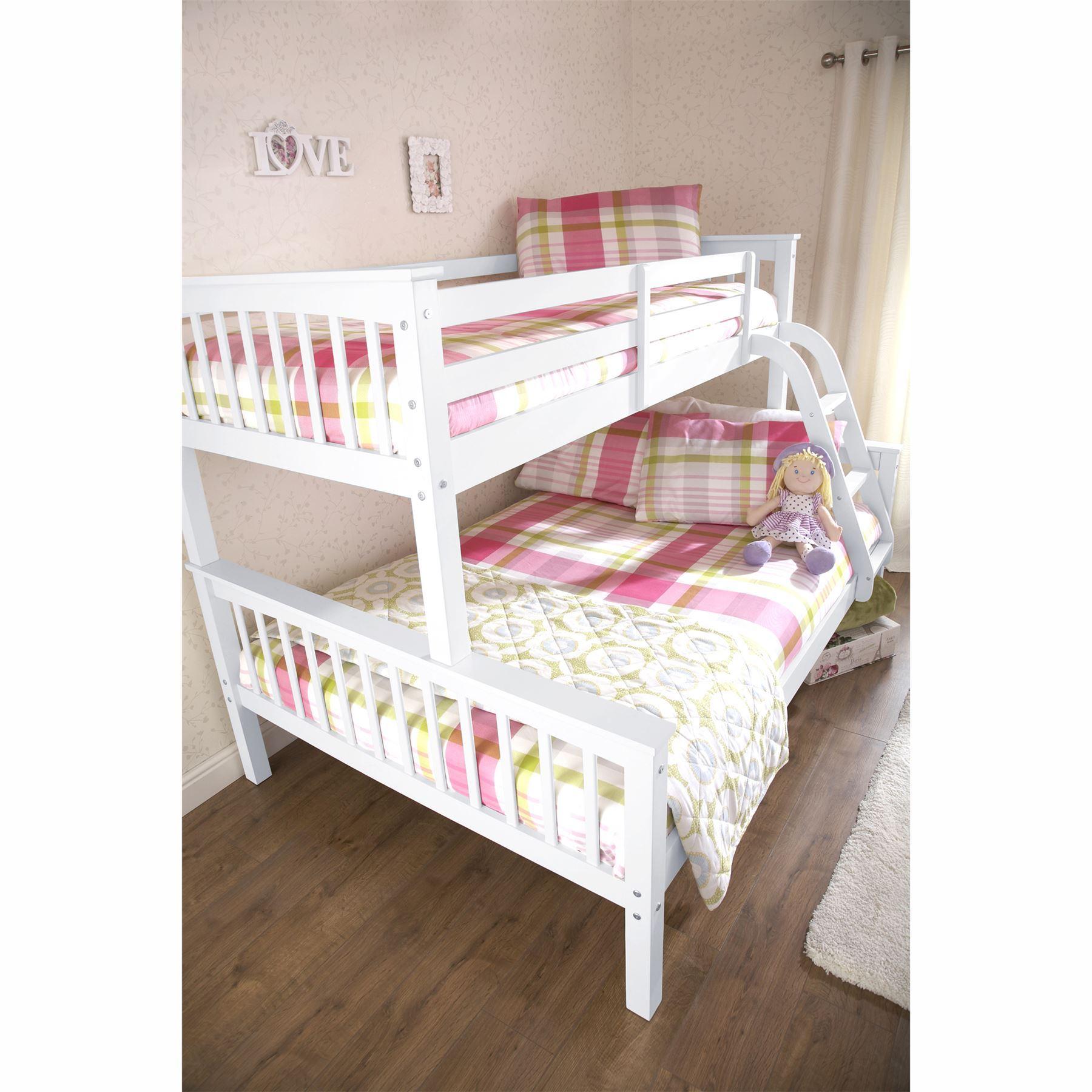 novaro trio white bunk bed frames 3ft single 4ft6 double. Black Bedroom Furniture Sets. Home Design Ideas