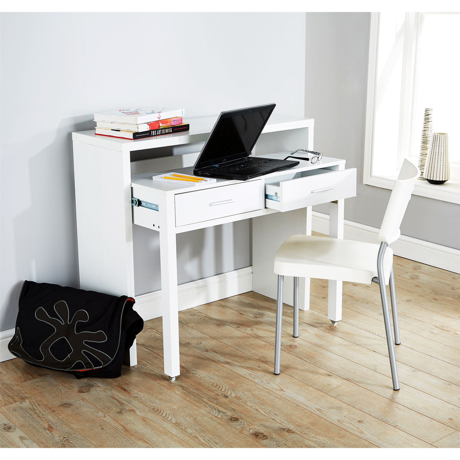 Regis extending console table computer table study desk for Table console retractable