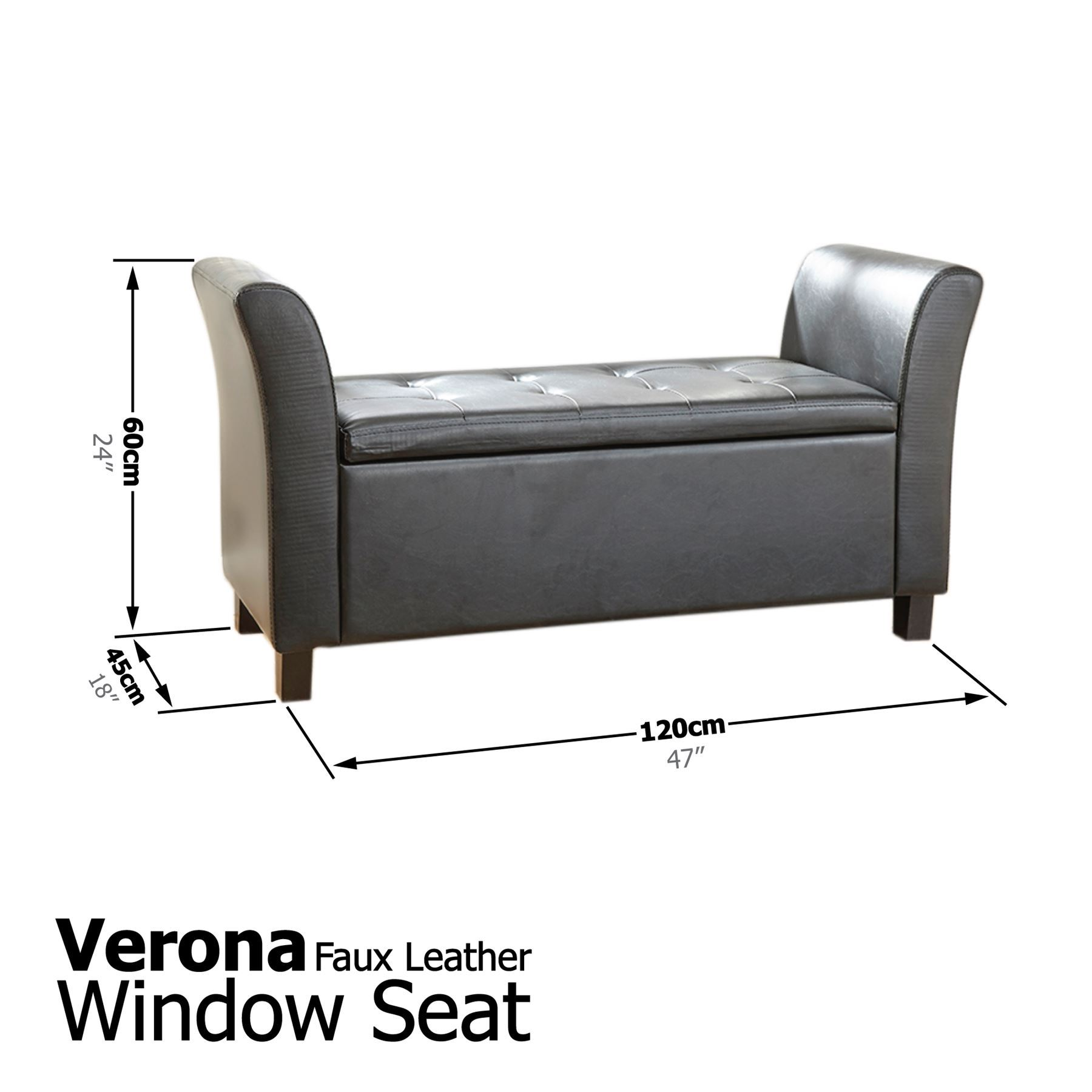 #736958   WINDOW SEAT OTTOMAN STORAGE BOX LARGE BLANKET BOX BENCH FOOTSTOOL with 1800x1800 px of Recommended Ottoman Bench Seats 18001800 save image @ avoidforclosure.info