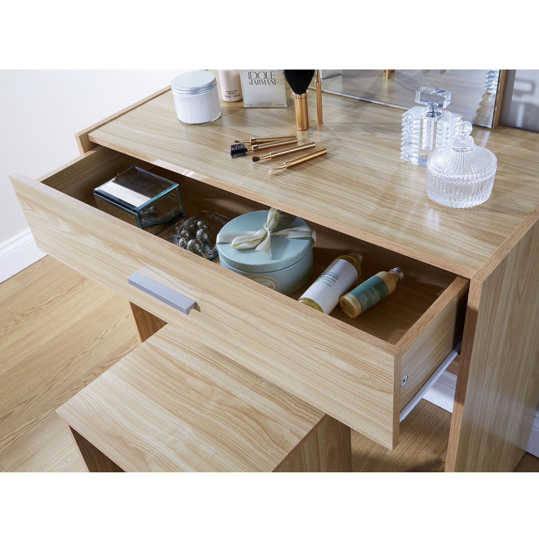 Julia dressing makeup table set vanity drawer dresser desk for Vanity dressing table with drawers