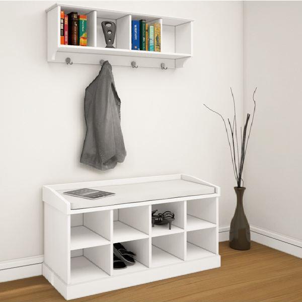 coat rack shoe bench hallway storage cabinet hanger hooks w ... - Coat Hooks With Storage