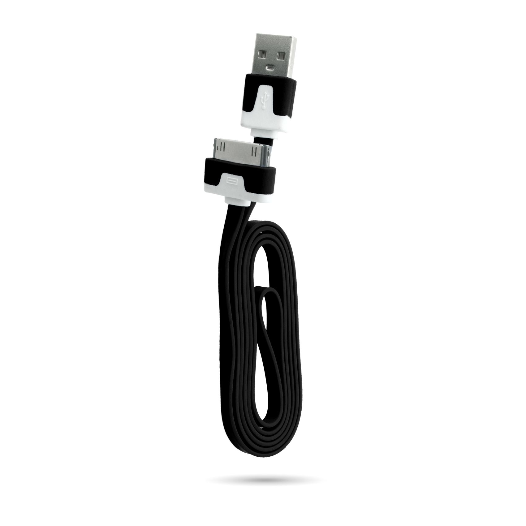 Cavo-USB-Piatto-Caricabatterie-Dati-1-2-3-Metri-per-iPhone-Apple-4s-iPad-3-2
