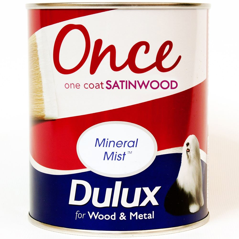Dulux Once Perfect High Gloss Satinwood Paint Interior Exterior 750ml Ebay