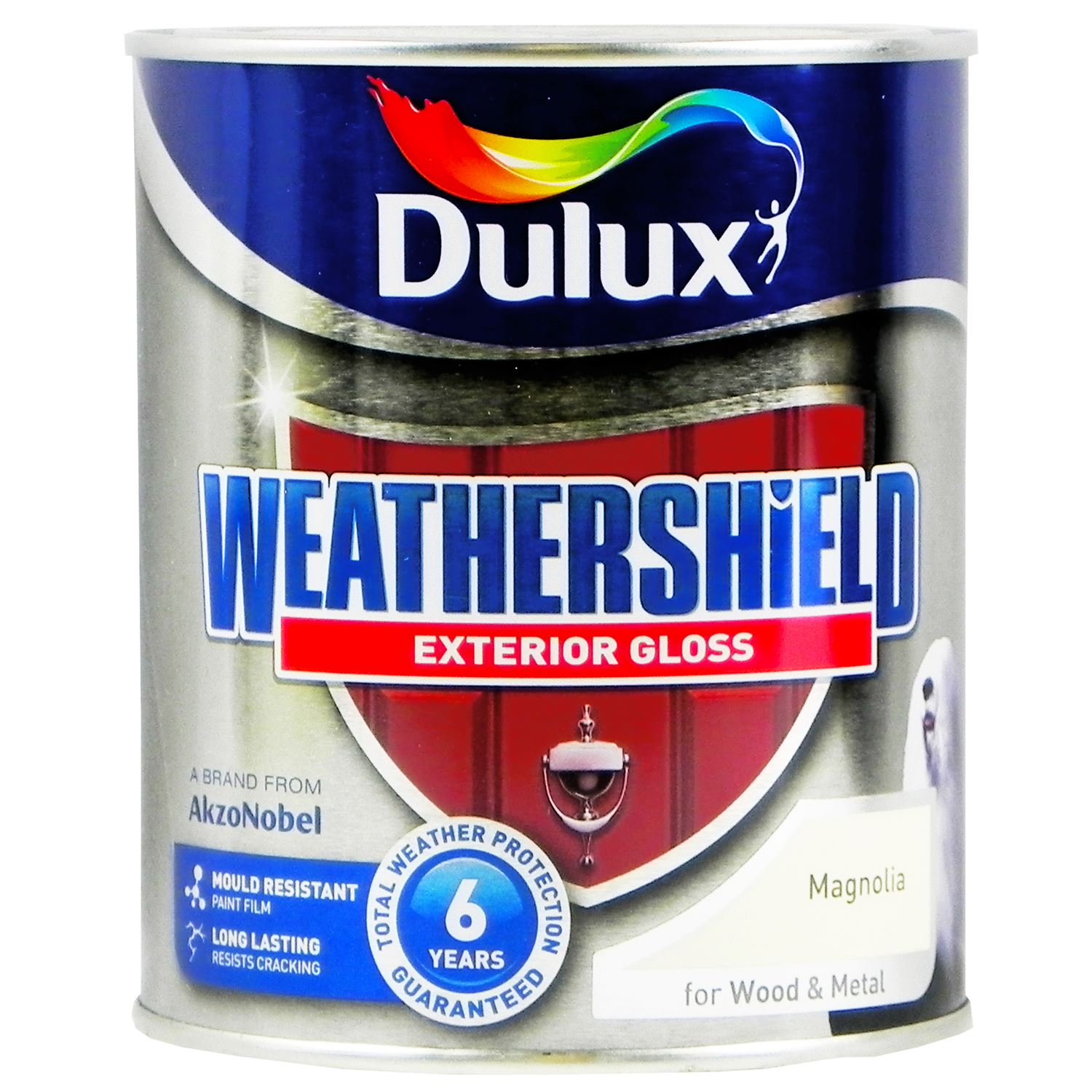 Dulux Weather Shield Protection Exterior Gloss Paint Magnolia For Wood Metal
