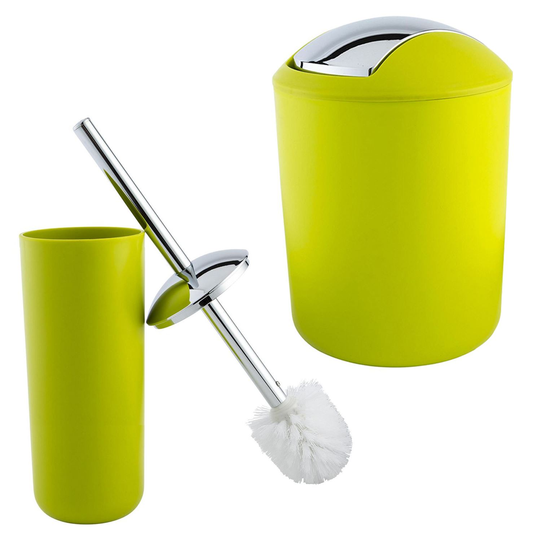 Bathroom Accessories Plastic Toilet Brush Toilet Bin Trash Bath