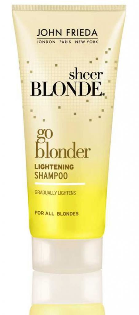 john frieda sheer blonde go blonder lightening shampoo travel size 50ml ebay. Black Bedroom Furniture Sets. Home Design Ideas