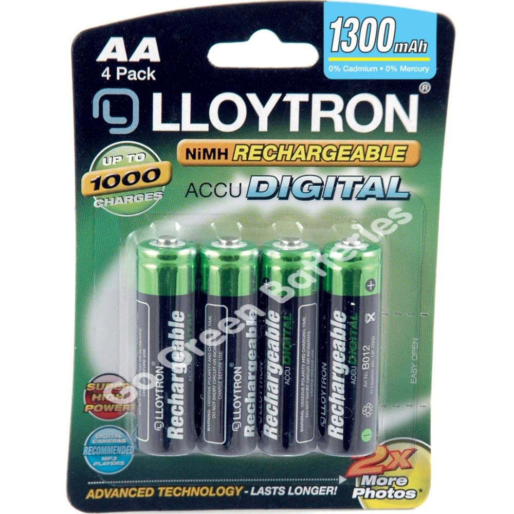 4 x lloytron aa rechargeable batteries 1300 mah nimh ebay. Black Bedroom Furniture Sets. Home Design Ideas