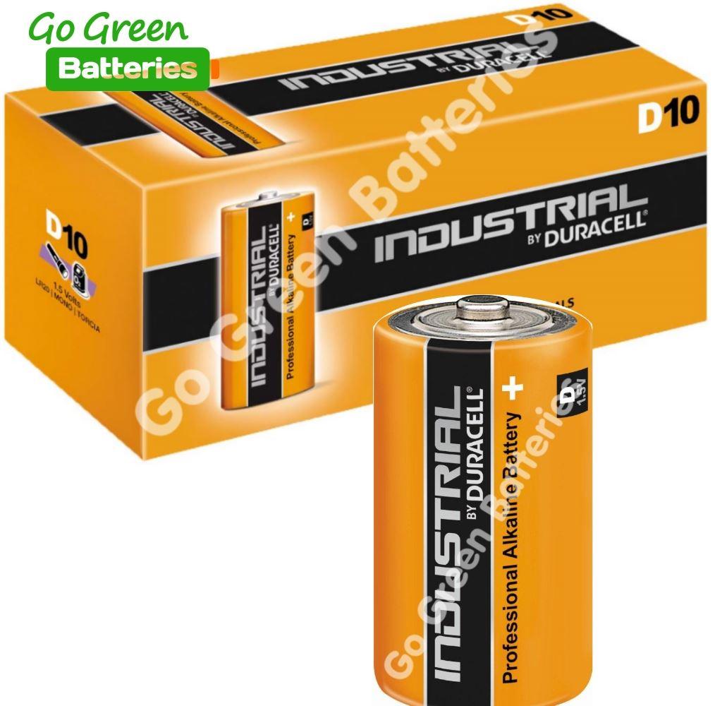 10 X Duracell D Size Industrial Procell Alkaline Batteries