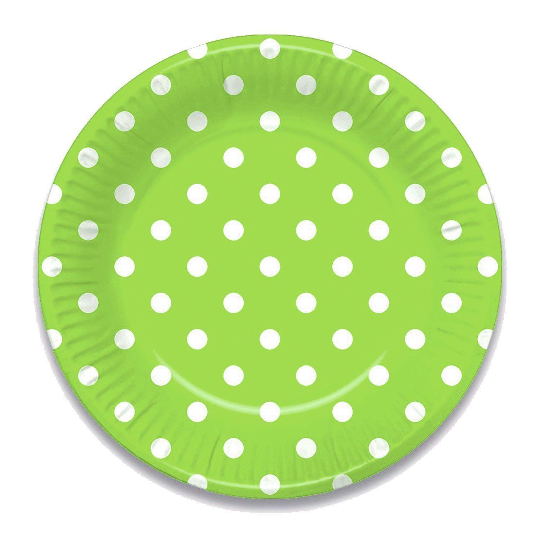 KRAFTZ-8Pc-Polka-Dot-Paper-Plates-Disposable-Tableware-  sc 1 st  eBay & KRAFTZ® 8Pc Polka Dot Paper Plates Disposable Tableware 7.5 ...